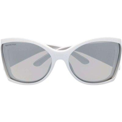 Balenciaga, Bb0154S Sunglasses Weiß, Größe: 72 | BALENCIAGA SALE