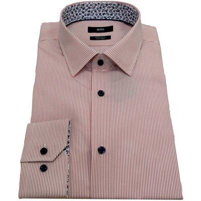 Hugo Boss, Camicia regular fit cotone facile stiro Mod. Gorax 50447502 Rot, Größe: 48 | HUGO BOSS SALE
