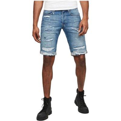 G-star, 3301 Shorts-Faded Ripped Shore Blau, Größe: XS   G-STAR SALE