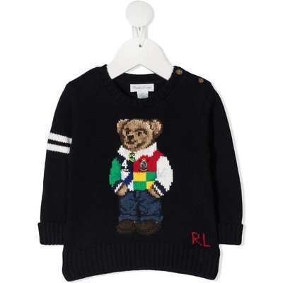 Polo Ralph Lauren, Teddy Bear Sweater Blau, unisex, Größe: 4y | RALPH LAUREN SALE