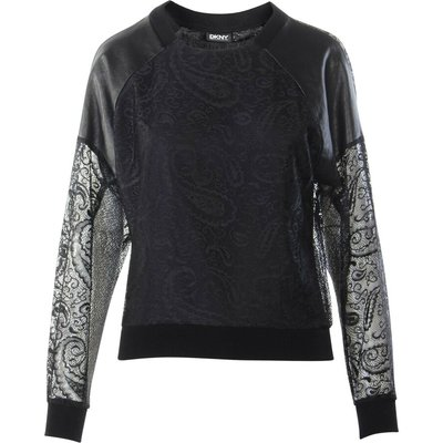 Laced and leather Long sleeves top Dkny Vintage | DKNY SALE