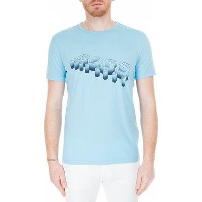 Hugo Boss, Hugo Boss men's logo T-shirt - hugo-boss, Light blue, XL Blau, Größe: XL | HUGO BOSS SALE