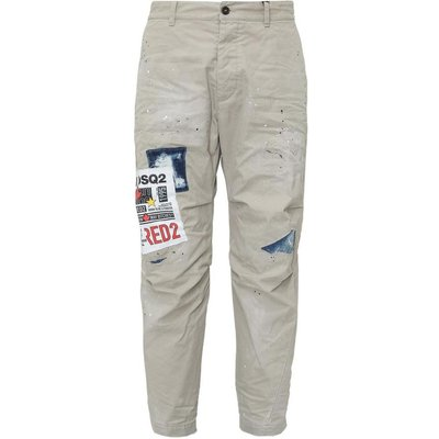 Dsquared2, Pants With Print Beige, Größe: 52 IT | DSQUARED2 SALE