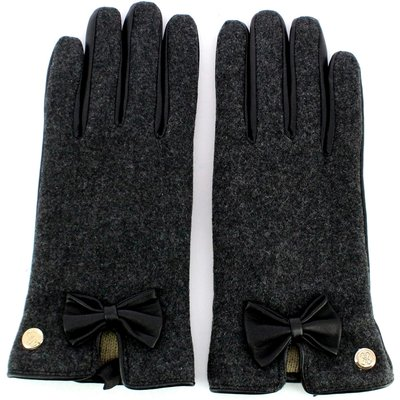 Guess, Leather gloves with bow Schwarz, Größe: M | GUESS SALE