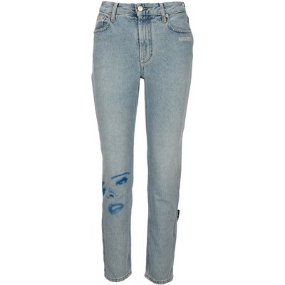 OFF-WHITE Printed Face Jeans Off White | OFF-WHITE SALE