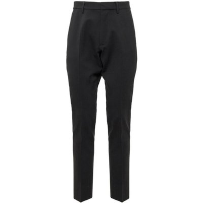 Dsquared2, Trousers with Patch Schwarz, Größe: 52 IT | DSQUARED2 SALE