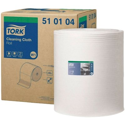 Tork 510104 Multi-Purpose Cleaning Cloth Roll of 1000 Sheets 380m