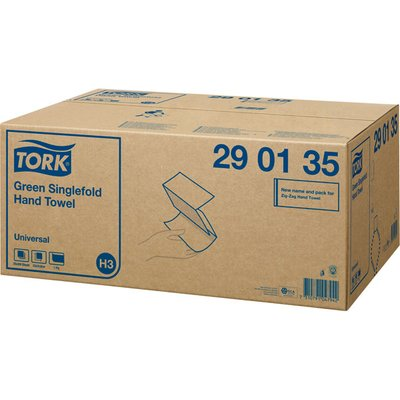 Tork 290135 Green Singlefold Hand Towel Universal 20 x 200 Bundles