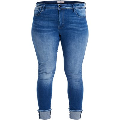 ONLY ONLY Curvy Carcarmen Ancle Fold Regular Fit Jeans Damen Blau
