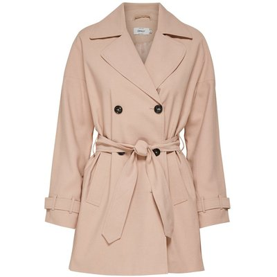 ONLY Kurzer Trenchcoat Pink