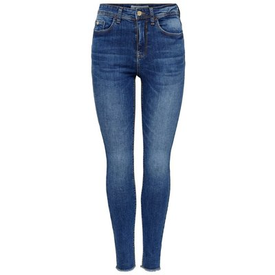 ONLY Jdy Mika High Ankle Skinny Fit Jeans Blau