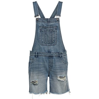 ONLY Onlfelicia Destroy Overall Shorts Blau