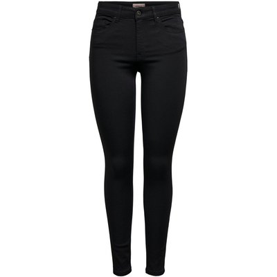 ONLY Onlhush Life Mid Ankle Skinny Fit Jeans Schwarz