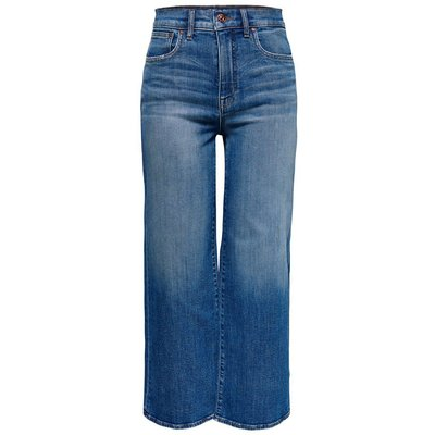 ONLY Madison Hw Wide Crop Flared Jeans Blau