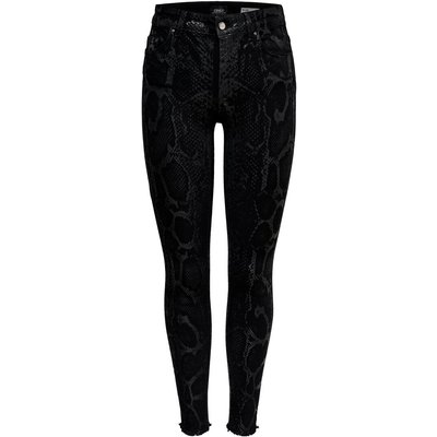 ONLY Onlblush Mid Ankle Skinny Fit Jeans Schwarz