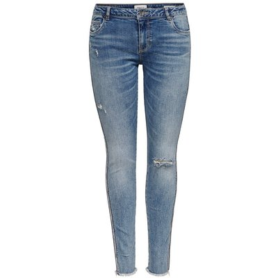 ONLY Onlcarmen Reg Ankle Tape Skinny Fit Jeans Blau