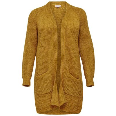 ONLY Lange Curvy Strickjacke Gelb | ONLY SALE