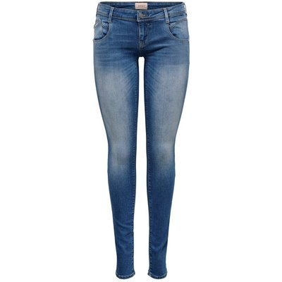 ONLY Onlcoral Sl Cut Skinny Fit Jeans Blau