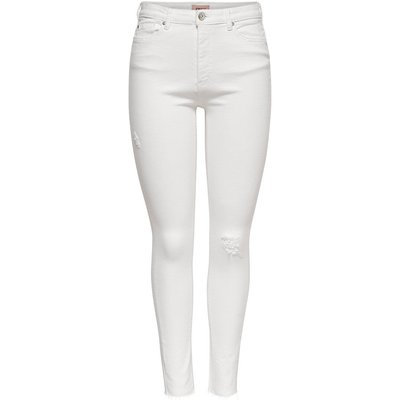 ONLY Onlpaola Hw Ankle Skinny Fit Jeans White