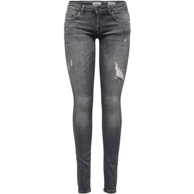 ONLY Onlcoral Sl Skinny Fit Jeans Grau