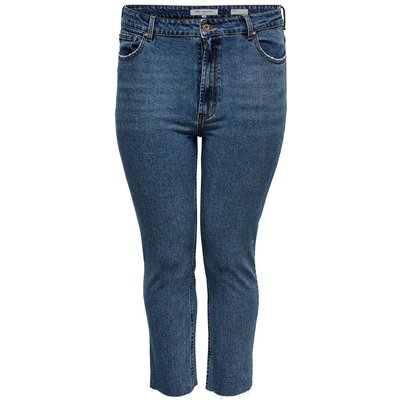ONLY Curvy Carmilly Hw Ankle Straight Fit Jeans Blau
