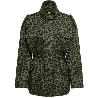 ONLY Leoparden Viskose Parka Grün | ONLY SALE