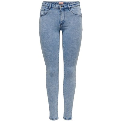 ONLY Onlrain Reg Ankle Acid Wash Skinny Fit Jeans Blau