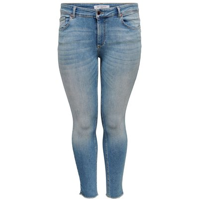 ONLY Curvy Carwilly Reg Ankle Skinny Fit Jeans Blau