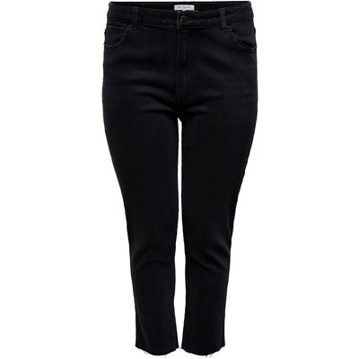 ONLY Curvy Carmily Hw Ankle Straight Fit Jeans Schwarz