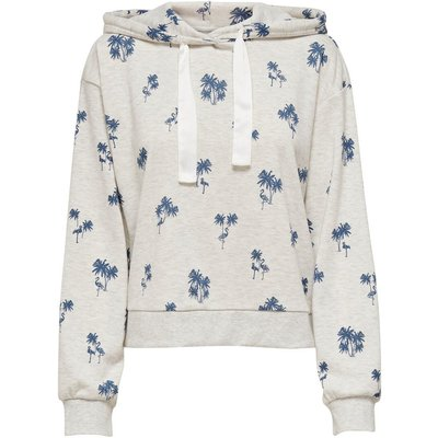 ONLY Print Hoodie White
