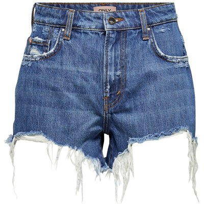 ONLY Onlcassy Life Mid Jeansshorts Blau | ONLY SALE