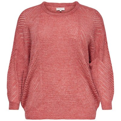 ONLY Lockerer Curvy Strickpullover Rot | ONLY SALE