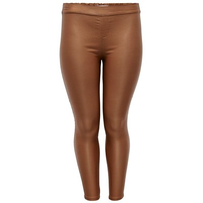 ONLY Beschichtete Curvy Leggings Braun | ONLY SALE