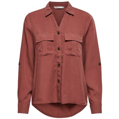 ONLY Detailreiche Hemd Rot | ONLY SALE