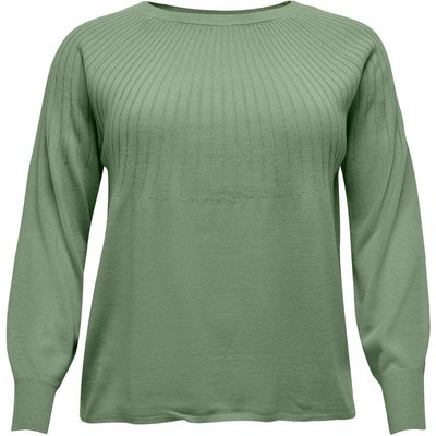 ONLY Einfarbiger Curvy Strickpullover Grün | ONLY SALE