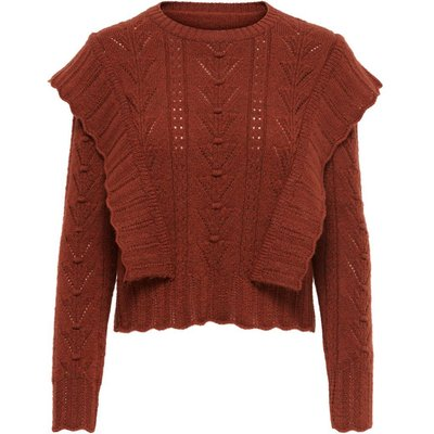 ONLY Detailreicher Strickpullover Rot | ONLY SALE