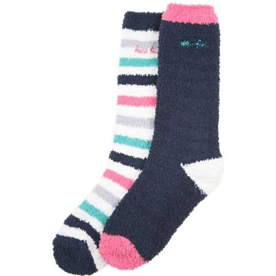 Weird Fish Park Fluffy Sock 2 Pack Navy