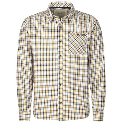 Weird Fish George Long Sleeve Brushed Check Shirt Charcoal