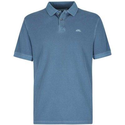 Weird Fish Edwin Garment Dyed Polo Shirt China Blue