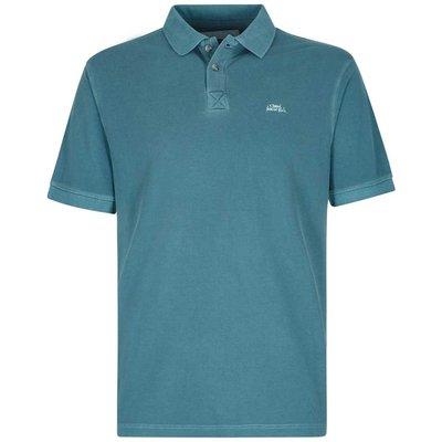 Weird Fish Edwin Garment Dyed Polo Shirt Deep Sea Blue