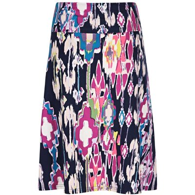 Weird Fish Malmo Printed Jersey Skirt Ink