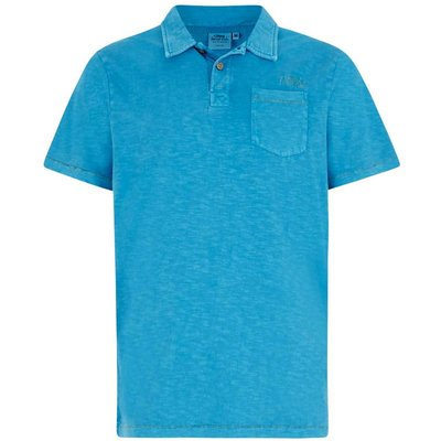 Weird Fish Morrison Garment Dyed Polo Shirt Blue Jay