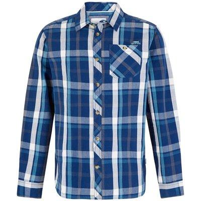 Weird Fish Ezra Lightweight Core Long Sleeve Check Shirt Estate Blue
