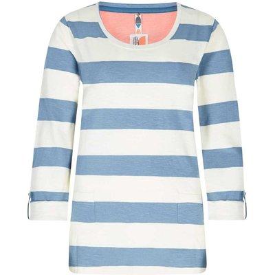 Weird Fish Ajay Cotton Slub Stripe Long Sleeve T-Shirt Citadel