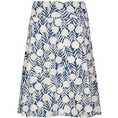 Weird Fish Malmo Printed Jersey Skirt Dark Denim