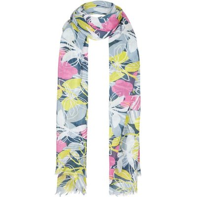 Weird Fish Alverton All Over Print Scarf Petrol Blue
