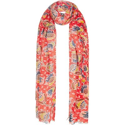 Weird Fish Alverton All Over Print Scarf Tango Red