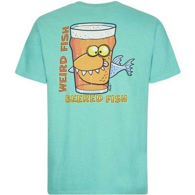Weird Fish Beered Fish Artist T-Shirt Menthol