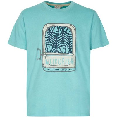 Weird Fish Sardines Graphic Print T-Shirt Menthol Marl
