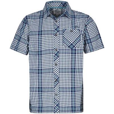 Weird Fish Frobe Short Sleeve Shirt Maritime Blue